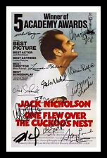 ONE FLEW OVER THE CUCKOO'S NEST AUTOGRAPHED SIGNED & FRAMED PP POSTER PHOTO