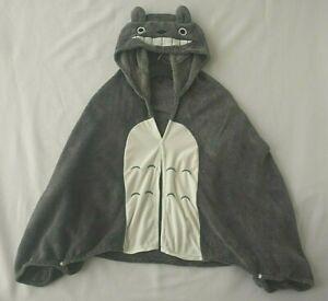 Studio Ghibli Totoro Hooded Wrap Cosplay Plush Shawl Cape Blanket Anime