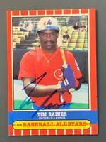 1987 Fleer Tim Raines Autographed Card Montreal Expos HOF