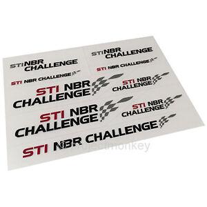 JDM Subaru STSG14100210 STi NBR Challenge Mini Decal Sticker Sheet Genuine OEM