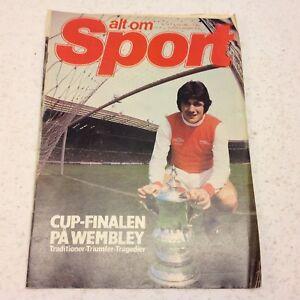 Frank Stapleton Arsenal Wembley FA Cup Triumph Vtg 1980 Danish Football Magazine