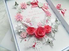 Handmade Personalised Birthday Card, Wedding Anniversary, Mothers Day Box