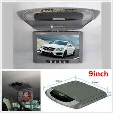 """9"""" Car Roof Mount LCD Monitor Flip Down Screen Overhead Multimedia Video Player"""