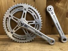 Vintage Sugino Super Mighty Twin 50/43 Chainset square taper 170 arms
