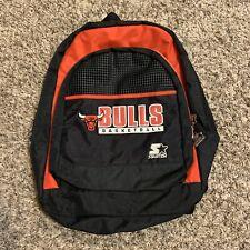 Vintage 90s Starter NBA Basketball Chicago Bulls Black & Red Book Bag