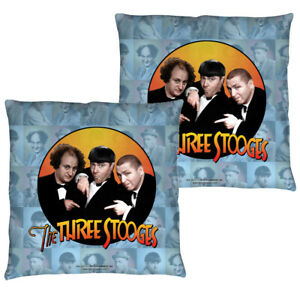 """The Three Stooges """"Portraits"""" Double Sided Throw Pillow"""