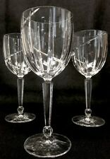 "Mikasa Uptrends Crystal Water Goblets 8 3/4""  Tall Set Of 3 Mint !!!"