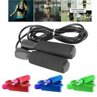 Aerobic Exercise Boxing Skipping Jump Rope Adjustable Bearing Speed Fitness USA