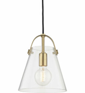 """Mitzi Hudson Valley H162701S-AGB Karin 9"""" Pendant in Aged Brass"""