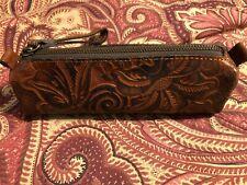 PATRICIA NASH Isla Oblong Tooled Cosmetic Bag Wristlet NWT