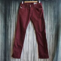 Diesel Darron Maroon Jeans Size 30 x 32 Regular Slim Tapered