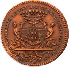 O4014 RARE Jeton Louis XIV Auvellier Secrétaire Roi 1712 SPL ->Faire offre