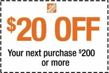 Home Depot $20 OFF $200 Coupon ONLINE USE ONLY--Very-FAST_SENT--
