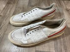 Vintage Adidas Player Tennis Leather Shoes Made in France Size 11 US No Laces