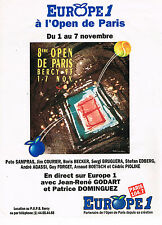 PUBLICITE ADVERTISING 025  1993  EUROPE 1 radio   TENNIS OPEN de PARIS BERCY