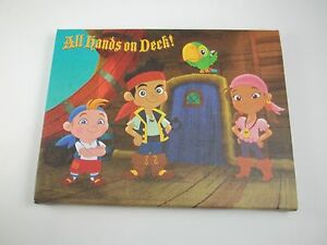 """Canvas Wall Art Picture Sign 8.5""""w All Hands on Deck Jake Never Land Pirates #29"""