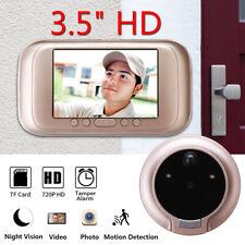 """3.5"""" Digital LED Peephole Viewer Door Eye Video Doorbell IR Camera Night Vision"""