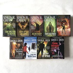 Simon R. Green, A Novel Of The Nightside + Secret Histories 9 Book Bundle Sci Fi