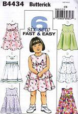 Butterick USA Sewing Pattern B 4434 CB Children Dress Clothes 6 Variants 80-98