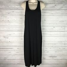The Fisher Project Eileen Fisher Tank Sleeveless Racerback Black Dress Small