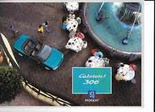 PEUGEOT 306 CABRIOLET CAR SALES BROCHURE 1994