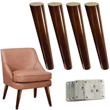 Angled Furniture Legs Walnut Finished Sofa Legs Wood For Couch Bench 12 inch
