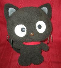 "2009 Sanrio Chococat Fuzzy 7"" Plush Stuffed Animal Toy Gray Cat Red Collar"
