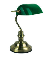 Classic Traditional Bankers Lamp W Antique Brass Style Desk Office Table Lamps