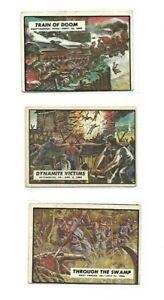 LOT OF 3-1962 TOPPS CIVIL WAR NEWS CARDS #'s 53, 73, & 86.