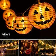 Pumpkin Lights Halloween String light 7.5ft 10 Leds Halloween lights Decorations