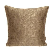 Satin Paisley Pattern 18x18 Beige/Gold Decorative/Throw Pillowcase/Cushion Cover