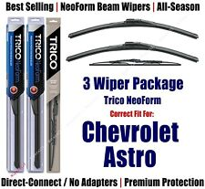 3pk Wipers Front & Rear - NeoForm - fit 1993-2005 Chevrolet Astro 16180x2/30130