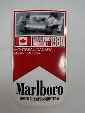 1980 Formula-1 Grand Prix Montreal, Canada Marlboro McLaren Collector Decal
