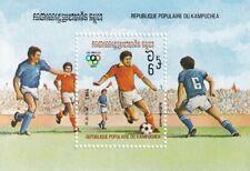 (37006) Cambodia MNH Olympics Los Angeles Football minisheet 1993 unmounted mint