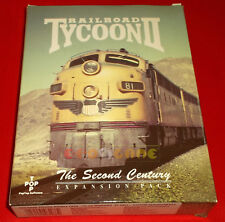 RAILROAD TYCOON II 2 THE SECOND CENTURY Expansion Pc Ver U.K. 1ª Ed Big Box - FH