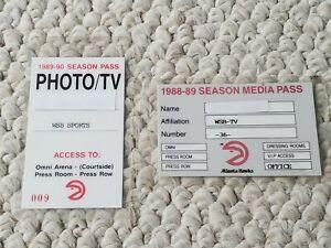 Authentic Atlanta Hawks 1988-89 and 1989-90 Season Media Pass Photo/TV Laminated