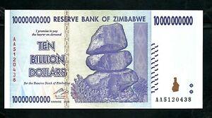 Zimbabwe (P85) 10,000,000,000 Dollars 2008 UNC