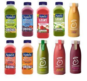 Innocent,Naked Apple&Kiwi,Kiwi&Cucumber,Watermelon&Raspberry, Mango Smoothie