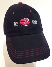 The L Word lips Black adjustable strap back hat 100% cotton