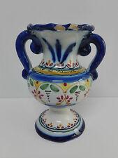 Antigua Jarron Florero de ceramica Rcdo de TALAVERA Toledo Firmada en Base