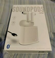 New listing New True Wireless Soundpods By Cylo Bluetooth Earbuds With Charging Case White