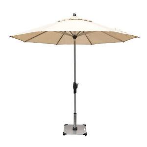 Shelta Fairlight 2.7m Oct Patio Market Outdoor Aluminium Umbrella Sandstone