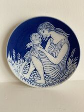 Mors Dag, 1978 Mothers Day plate, Royal Copenhagen, Beautiful Blue Colour