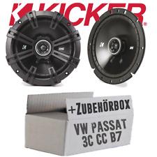 Kicker Lautsprecher für VW Passat 3C CC B6 B7 Front | 16cm PKW Boxen - Einbauset