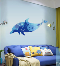 Removable Vinyl Wall Decal dolphin kids boy room Sticker Home DIY Wall Decor