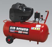 Sealey SAC05030F Compressor 50ltr V-Twin Belt Drive 3hp Oil Free