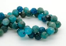 Apatite, Natural Apatite Faceted Round Ball Sphere Loose Gemstone Beads