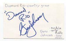 Diamond Rio - Gene Johnson Signed 3x5 Index Card Autographed Signature Band