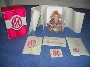"Marie Osmond Ladylike Tinier Tot 5"" Porcelain Doll w/ COA, Tag, Necklace & Box"