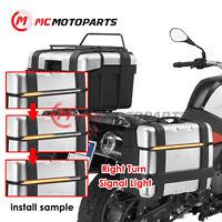 X-THUNDER LED Flowing Brake Turn Signal Indicator Strip For Motorbike Top Box